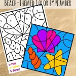 Free Colornumber Beach Printable | Printables For Kids | Summer   Free Printable Beach Pictures