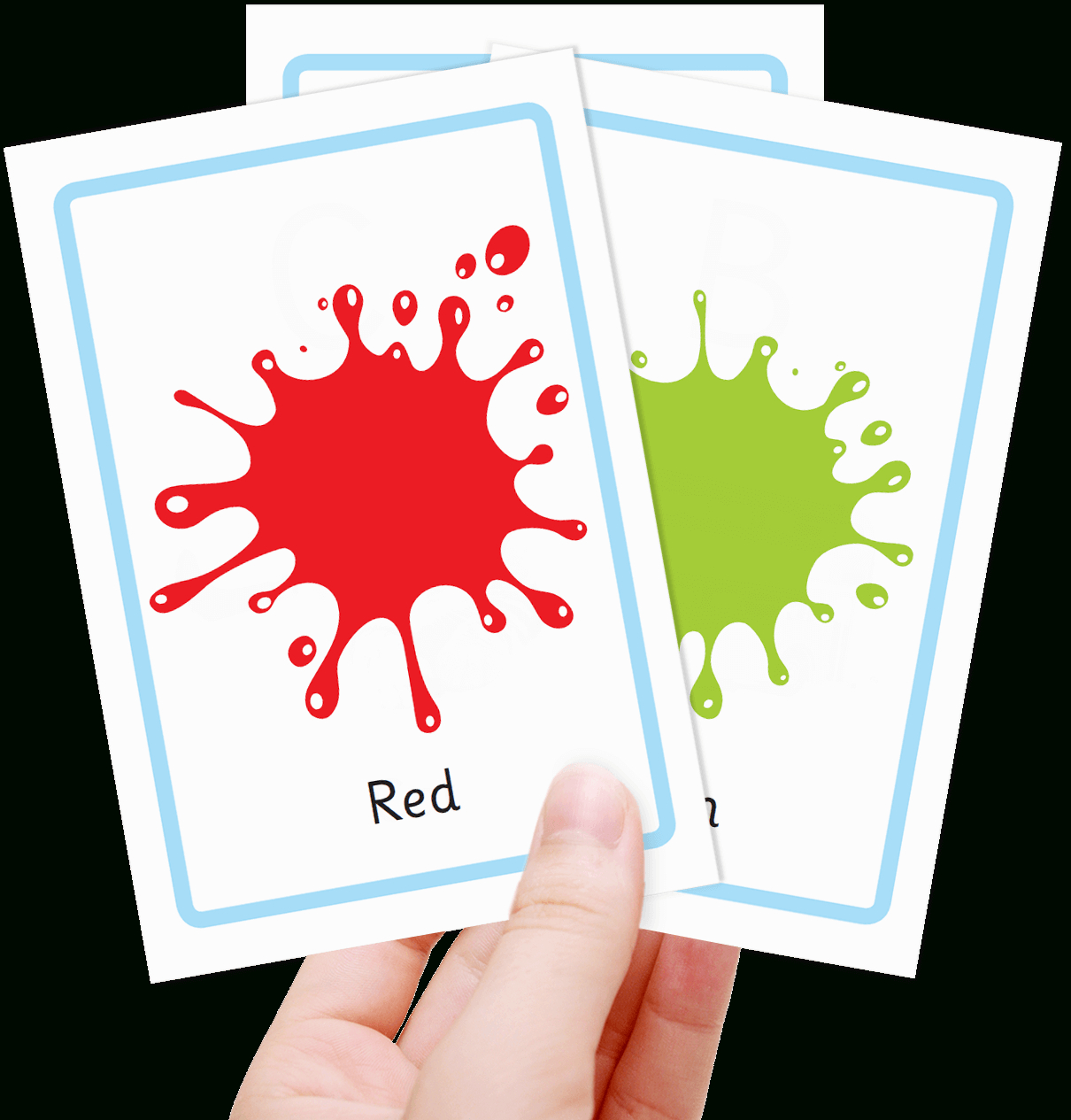 Free Colour Flashcards For Kids - Totcards - Color Flashcards Printable Free
