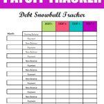 Free Debt Snowball Printable Worksheet: Track Your Debt Payoff   Free Printable Debt Snowball Worksheet