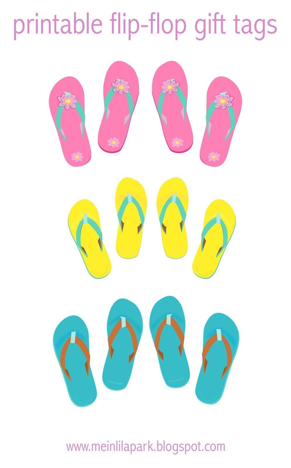 Free Digital Flip-Flops Scrapbooking Paper - Ausdruckbares - Free Printable Flip Flop Pattern