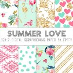 Free Digital Scrapbook Paper Summer Love | Make   Printables   Free Online Digital Scrapbooking Printable