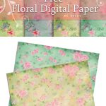 Free Digital Scrapbooking Paper  Floral Love | Fabnfree // Freebie   Free Online Digital Scrapbooking Printable