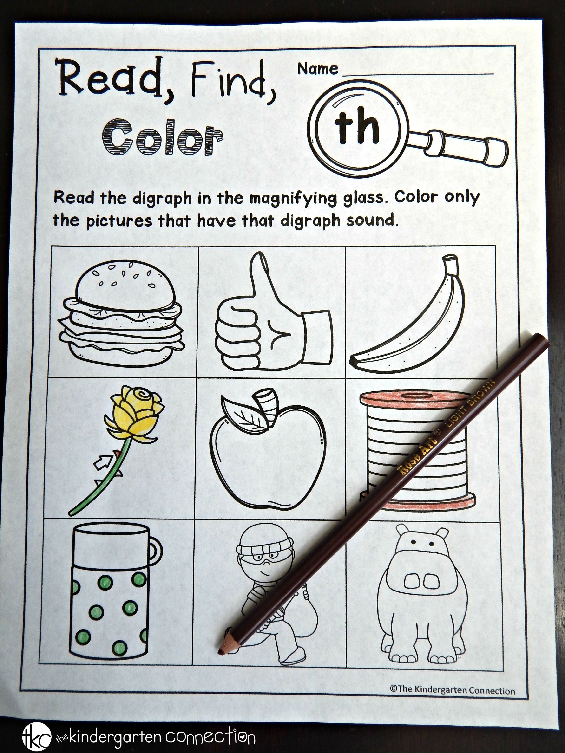 Free Digraph And Cvce Printables | School | Digraphs Worksheets - Hooked On Phonics Free Printable Worksheets