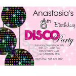 Free Disco Free Party Invites For Children | Lugares Para Visitar   Free Printable 80S Birthday Party Invitations
