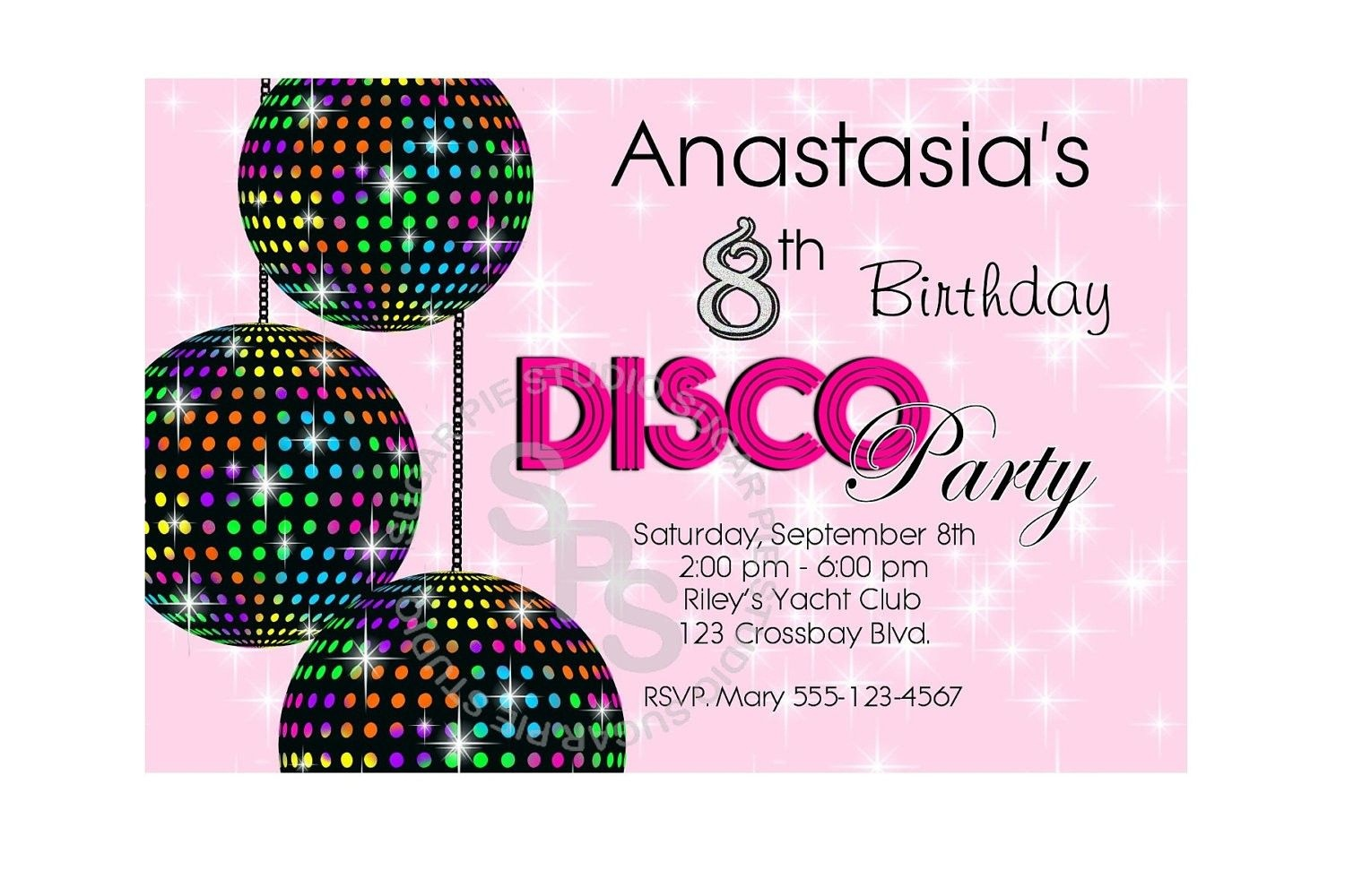 Free Disco Free Party Invites For Children | Lugares Para Visitar - Free Printable 80S Birthday Party Invitations