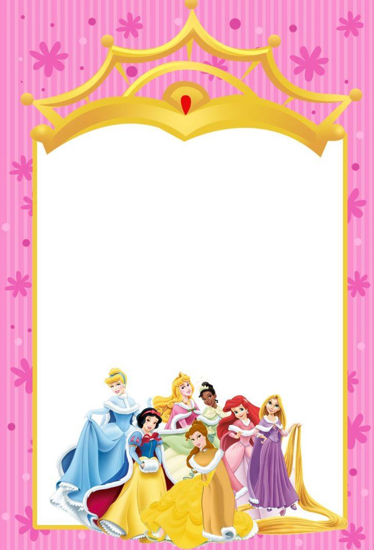 Disney Princess Birthday Invitations Free Printable