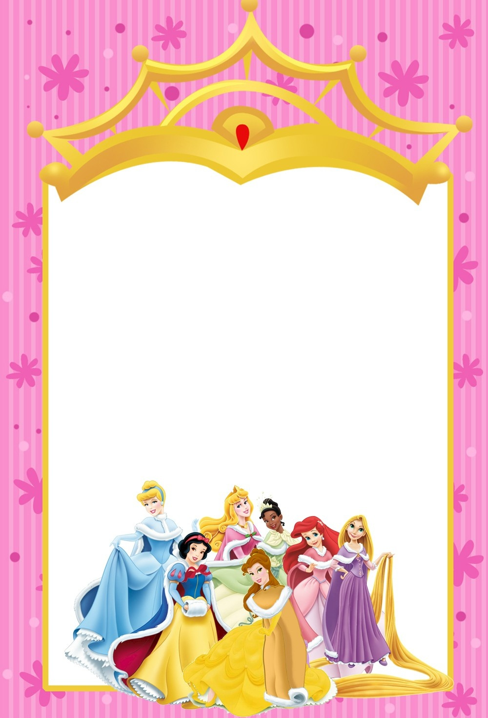 Free Disney Invitation Templates F Cool Disney Princess Birthday - Disney Princess Birthday Invitations Free Printable