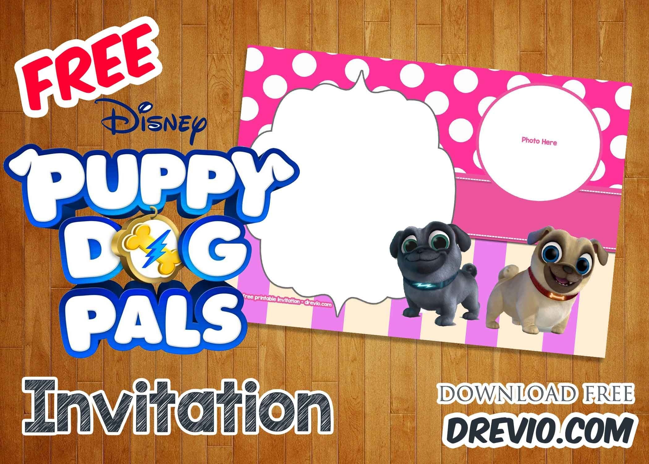 Free Disney Puppy Dog Pals Invitation Templates | Free Printable - Dog Birthday Invitations Free Printable