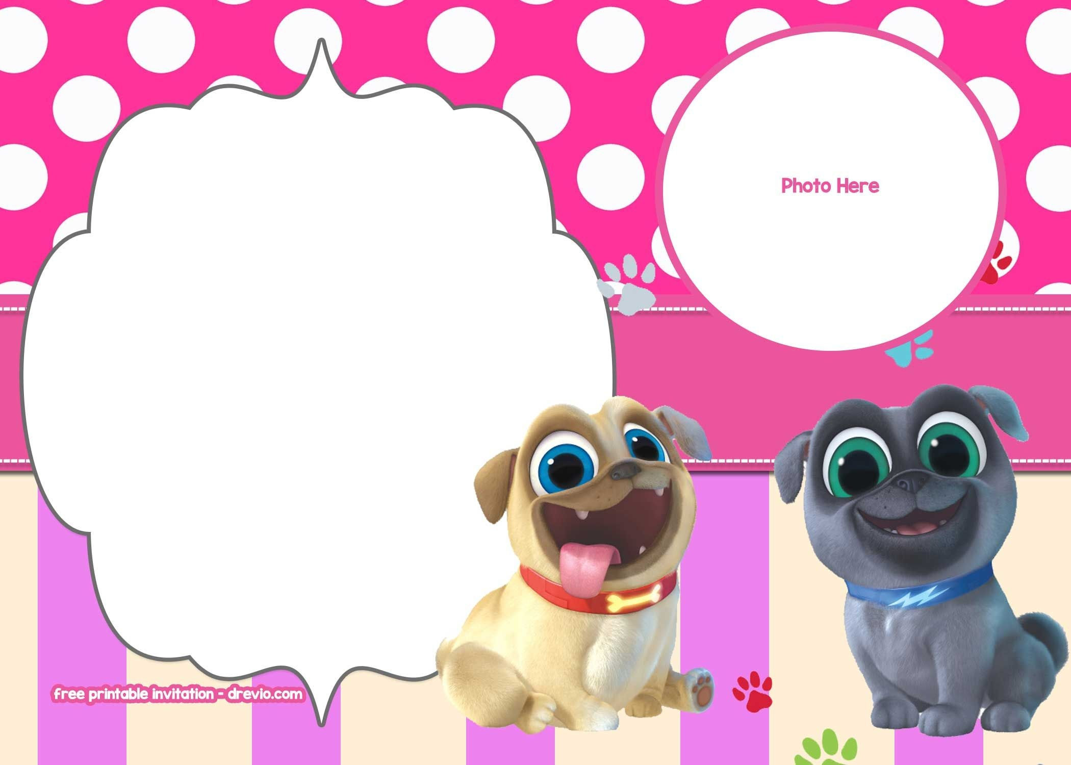 Free Disney Puppy Dog Pals Invitation Templates | Free Printable - Free Printable Puppy Dog Birthday Invitations