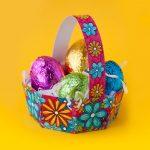 Free Diy Easter Egg Basket Template   Sarah Renae Clark   Coloring   Free Printable Easter Egg Basket Templates