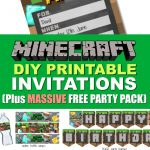 Free Diy Printable Minecraft Birthday Invitation   Clean Eating With   Free Minecraft Printables