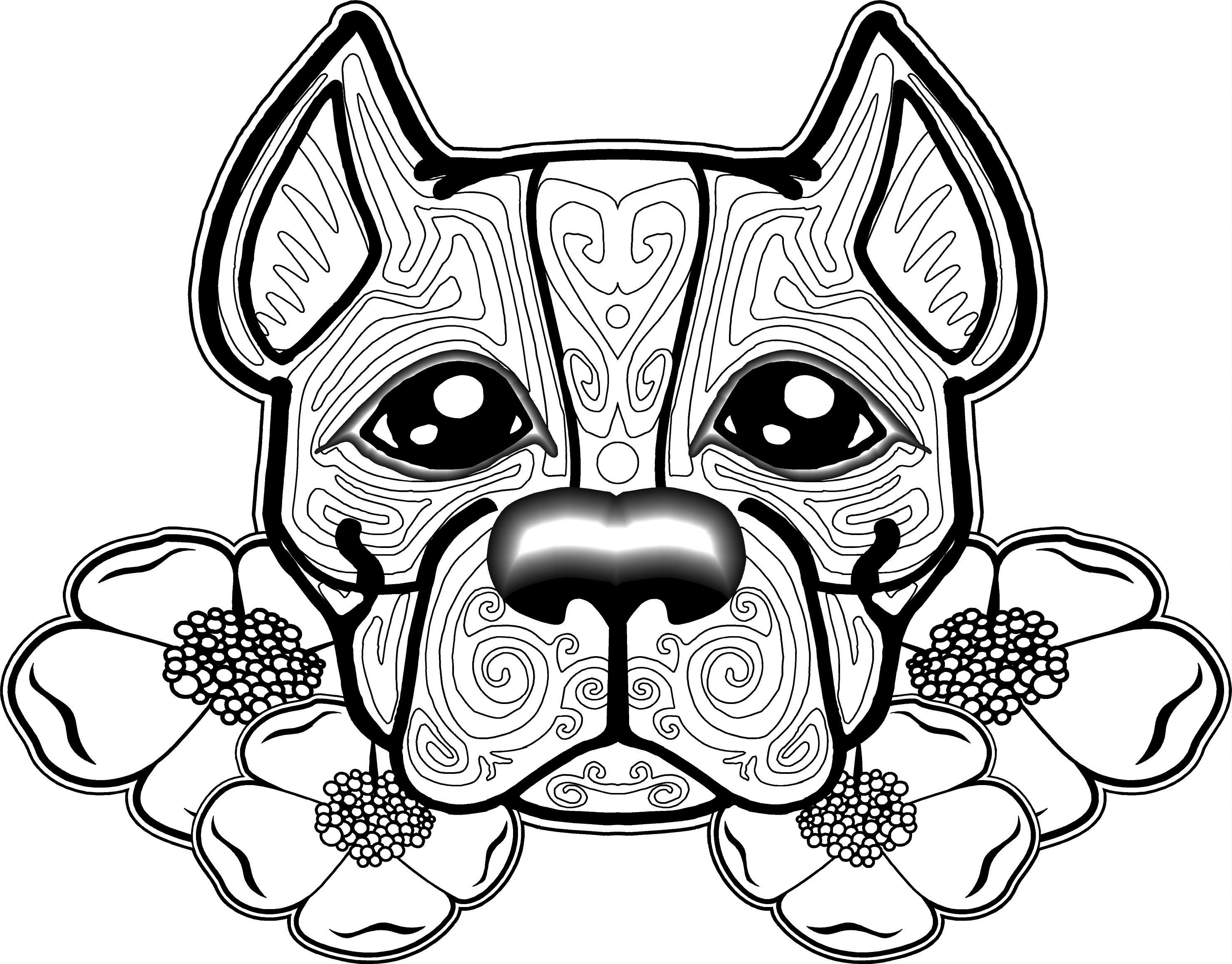 Free Dog Coloring Pages For Adults | Free Printable Coloring Pages - Free Printable Dog Coloring Pages