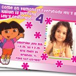 "Free Dora Birthday Card Invitations €"" Birthday Card Ideas 