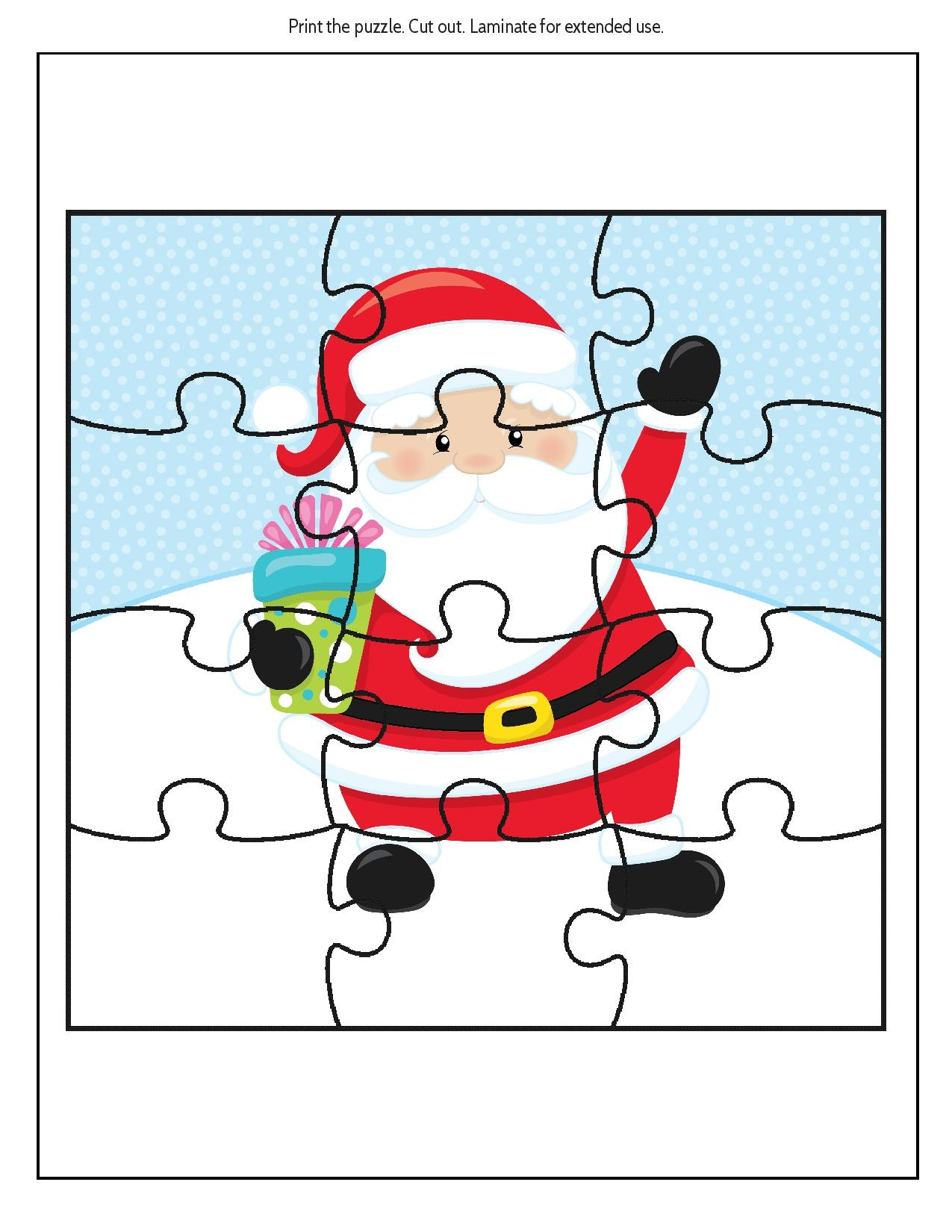 Free Educational Printable Christmas Puzzle Pack - Real And Quirky - Free Printable Christmas Picture Puzzles