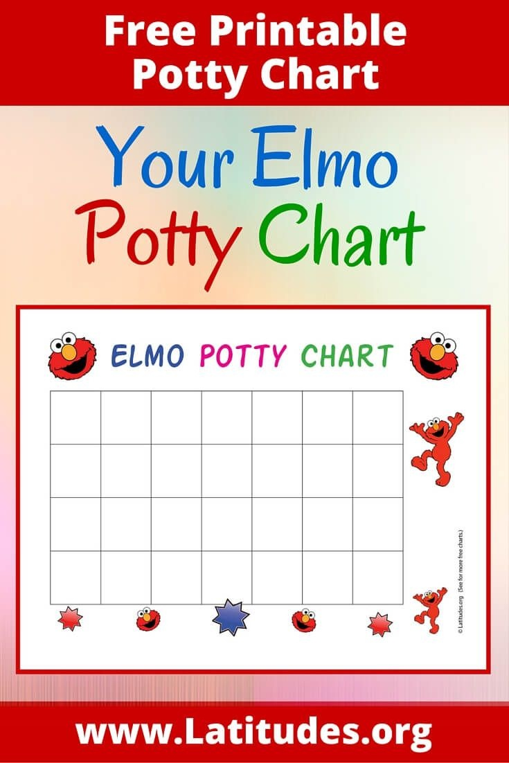 Free Elmo Potty Training Chart | Family | Potty Training Reward - Free Printable Potty Training Books For Toddlers