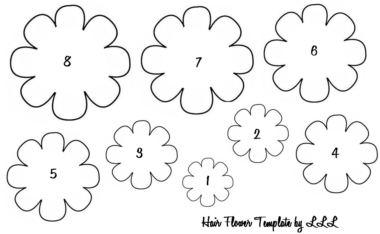 Free Fabric Flower Patterns | The Lovely Life Of Lindsay: Baby Hair - Free Printable Flower Template