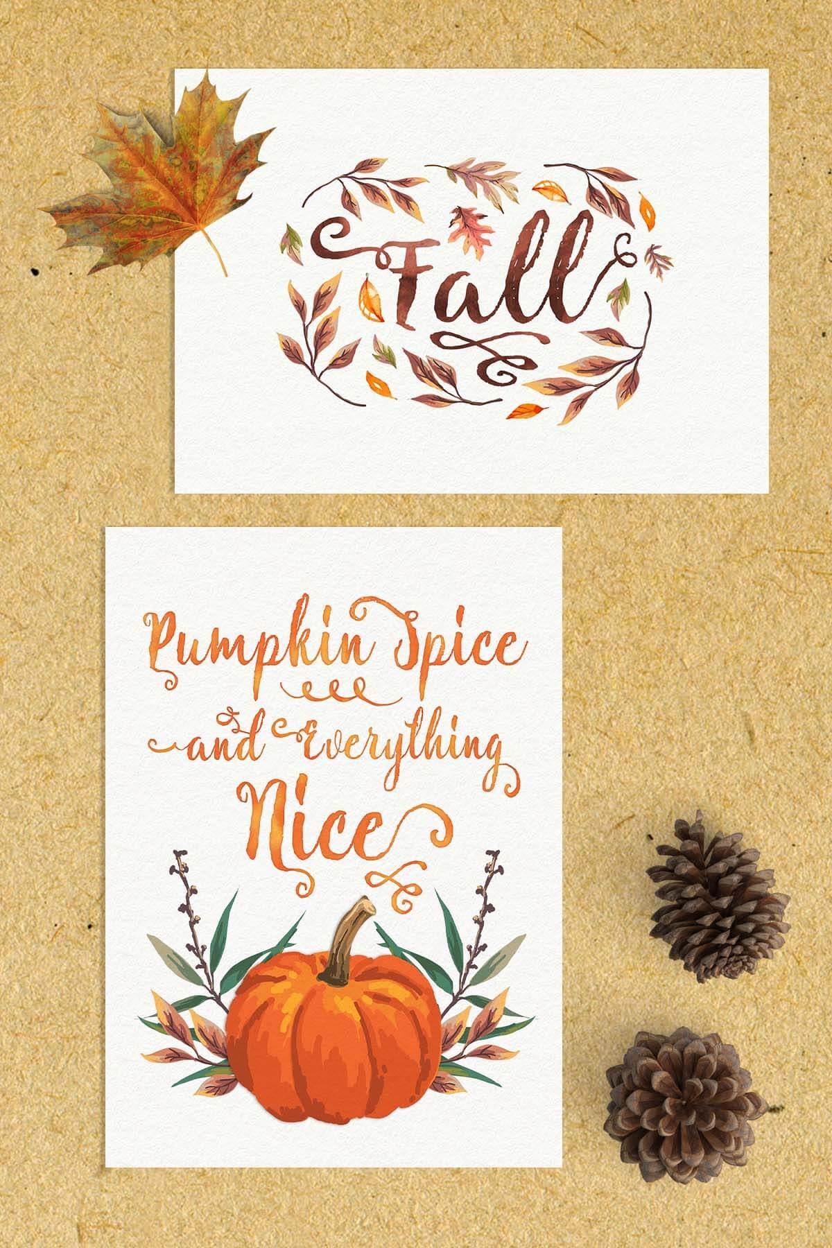 Free Fall Watercolor Printables | Www.teepeegirl - Free Autumn Printables