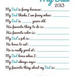 Free Fathers Day Printable | It's Preschool (Song) Prek   Free Preschool Fathers Day Printables