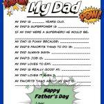 Free Father's Day Printable | Theitmom ✽ Diy | Father's Day   Free Preschool Fathers Day Printables
