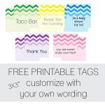 Free Favor Tags For Parties | Cutestbabyshowers   Free Printable Thank You Tags For Birthday Favors