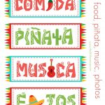 Free Festive Cinco De Mayo Printables {Freebie} | Cinco De Mayo   Free Printable Mexican Party Decorations