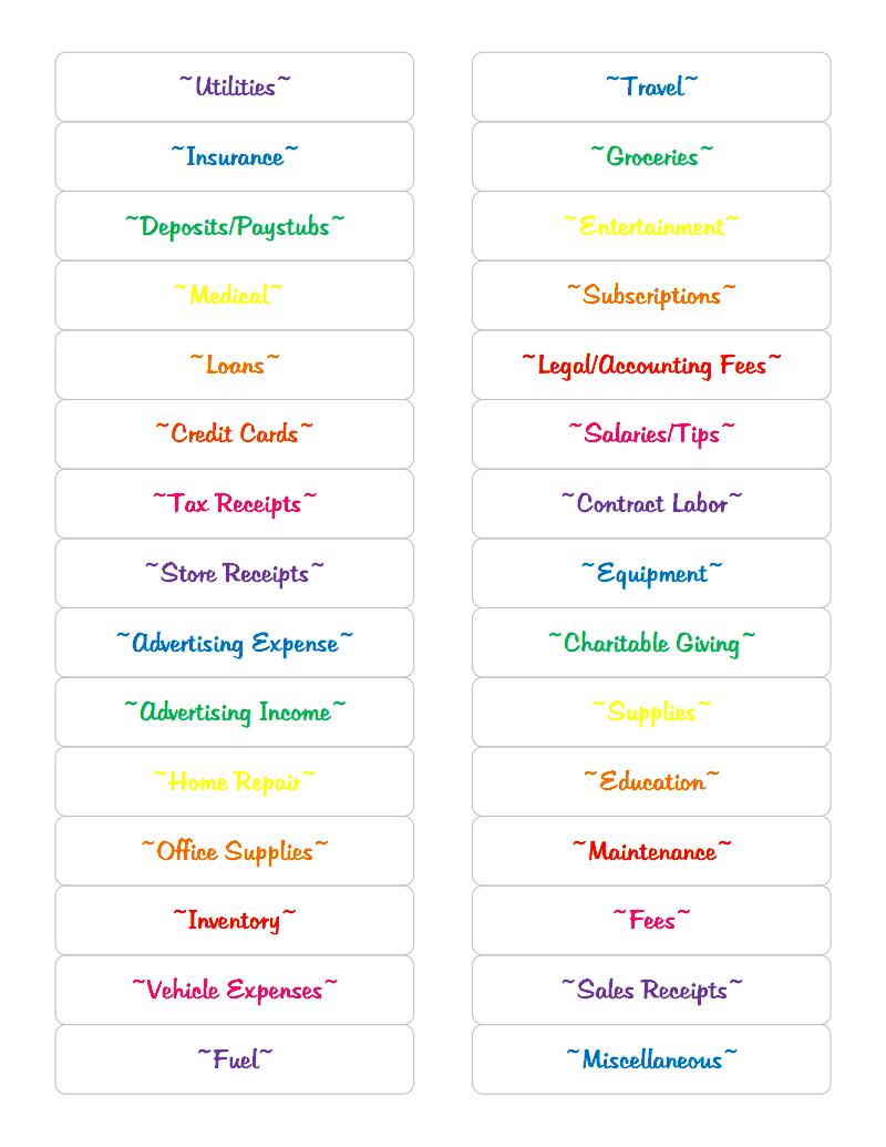 Free File Labels.pdf - Google Drive | Household Planner/organizing - Free Printable File Labels
