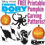 Free Finding Dory Pumpkin Carving Patterns To Print!   Halloween Pumpkin Carving Stencils Free Printable