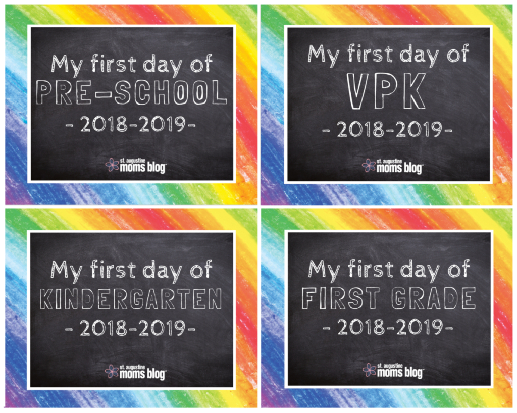 Free First & Last Day Of School Printables - Free First Day Of School Printables