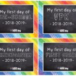 Free First & Last Day Of School Printables   My First Day Of Kindergarten Free Printable