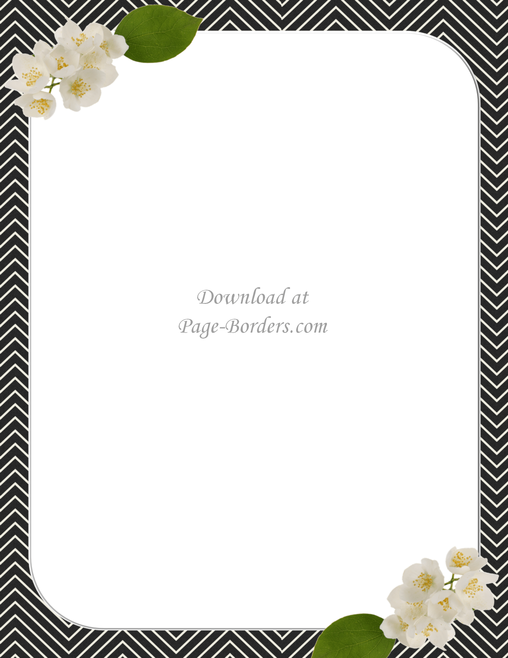 Free Flower Border Template | Personal & Commercial Use - Free Printable Borders For Cards