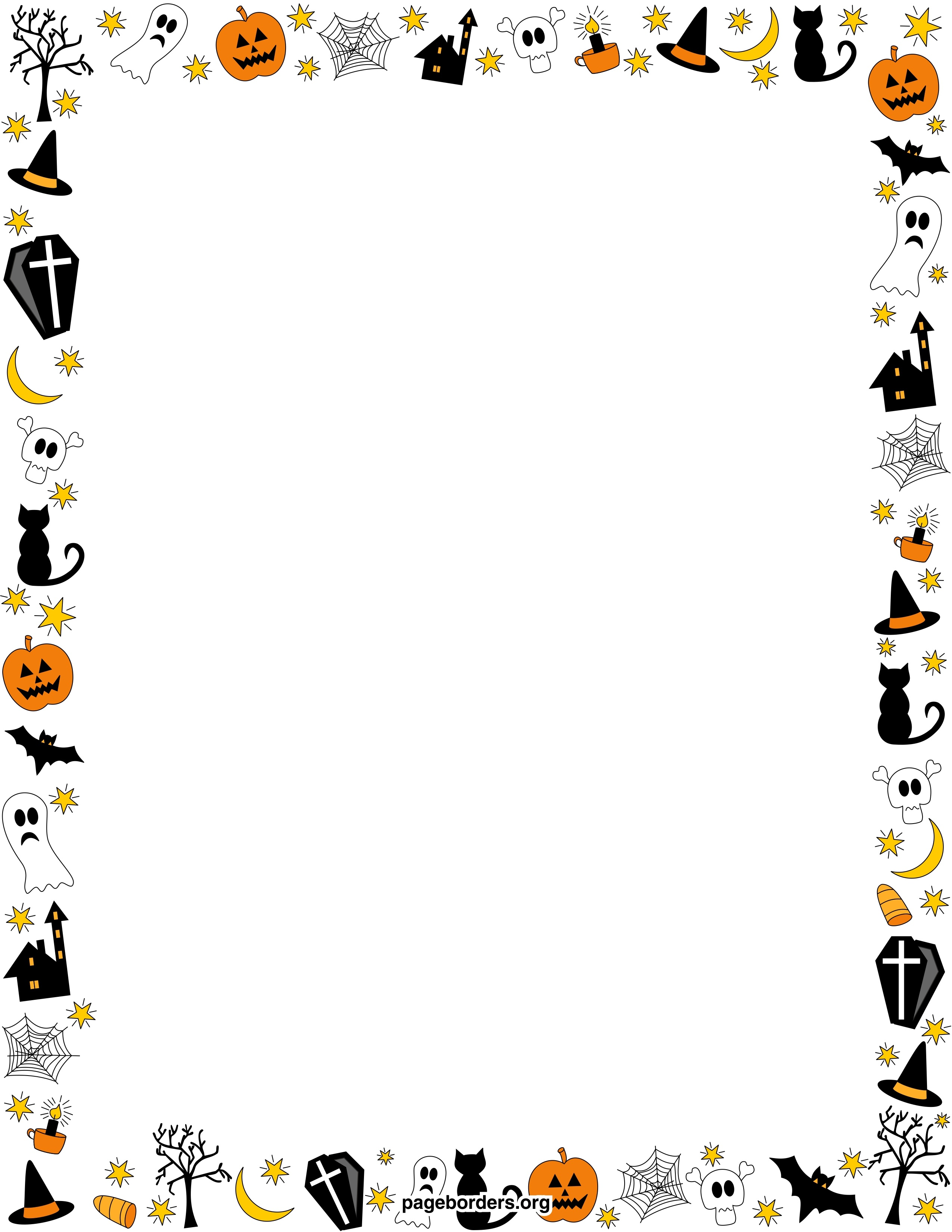 Free Free Halloween Borders, Download Free Clip Art, Free Clip Art - Free Printable Halloween Stationery Borders
