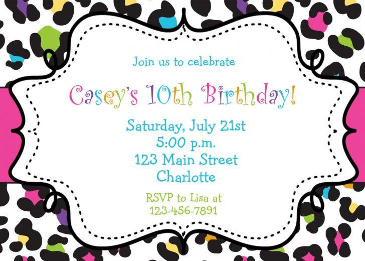Free Printable Zebra Print Birthday Invitations