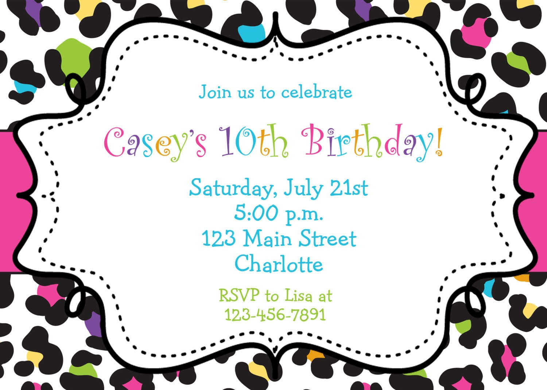 Free Free Printable Bowling Party Invitation Templates, Download - Free Printable Zebra Print Birthday Invitations
