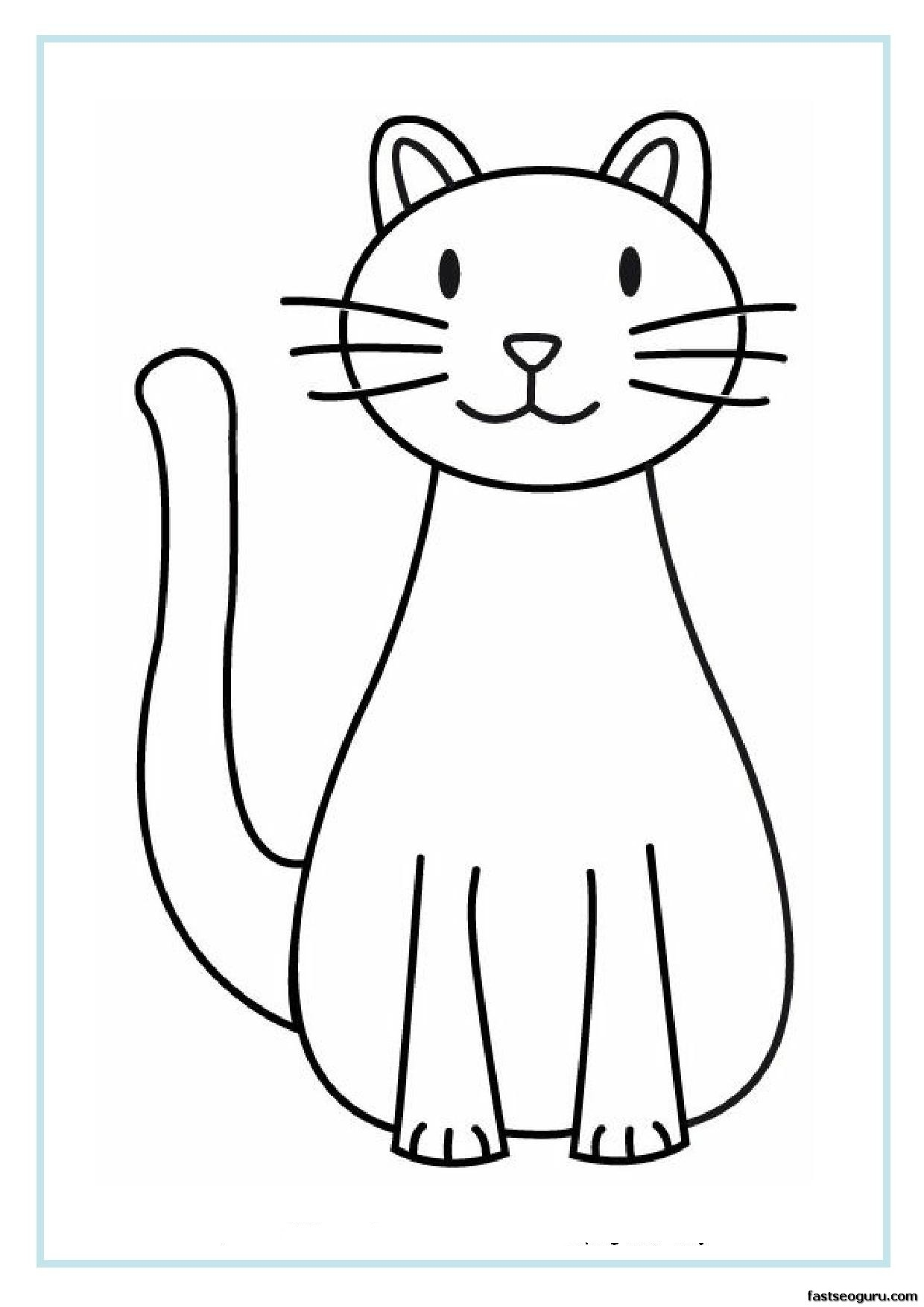 Free Free Printable Cat Pictures, Download Free Clip Art, Free Clip - Cat Coloring Pages Free Printable