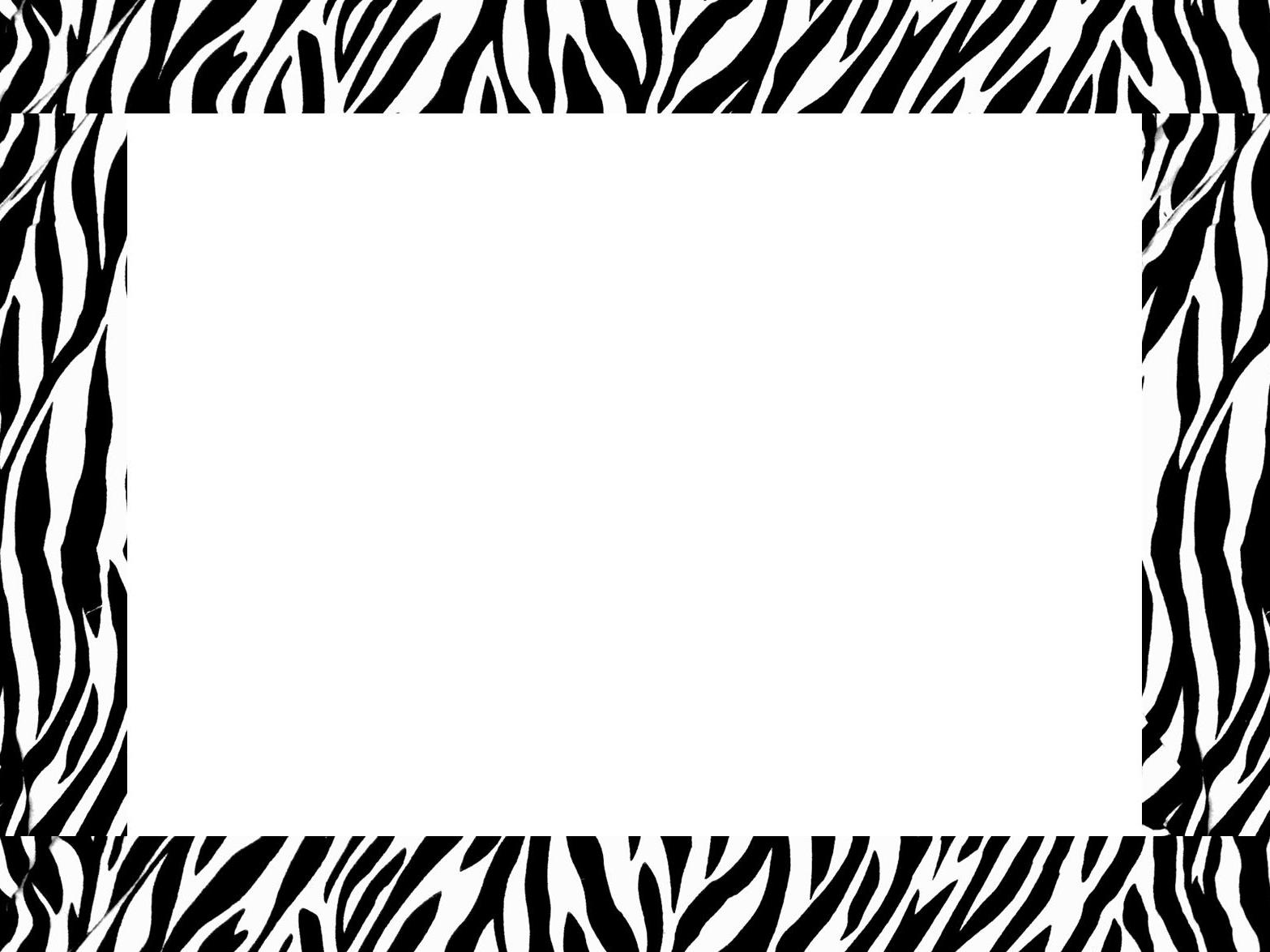 Free Free Zebra Borders, Download Free Clip Art, Free Clip Art On - Zebra Invitations Printable Free