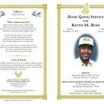 Free Funeral Program Templates | Funeral Program Sample Order Of   Free Printable Funeral Program Template