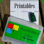 Free Geocache Printable Logs & Signs For Geocache Containers   Geocache Label Free Printable