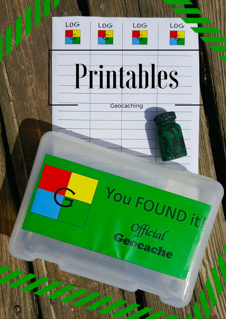 Free Geocache Printable Logs & Signs For Geocache Containers - Geocache Label Free Printable