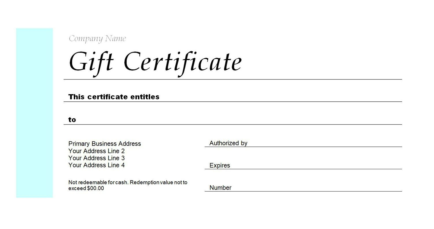 Free Gift Certificate Templates You Can Customize - Free Printable Gift Certificate Templates For Massage