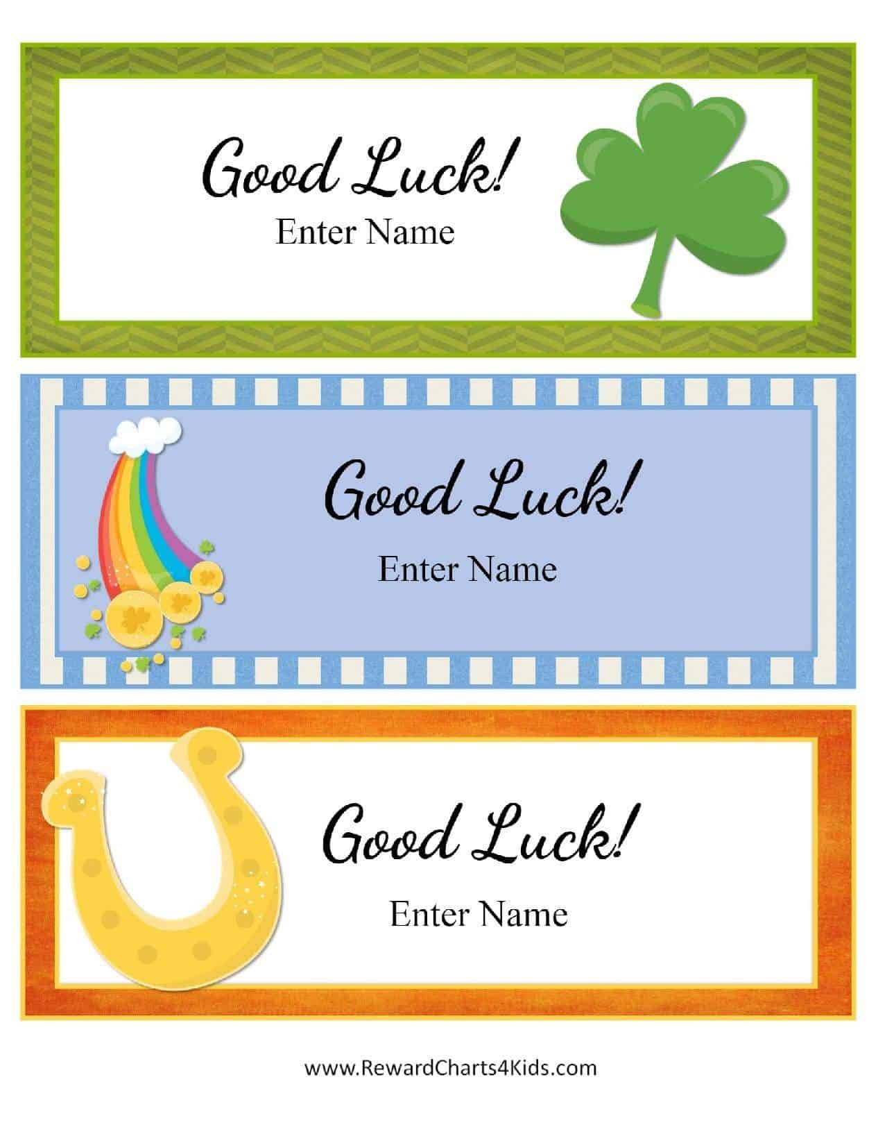 Free Good Luck Cards For Kids | Customize Online & Print At Home - Free Printable Good Luck Cards