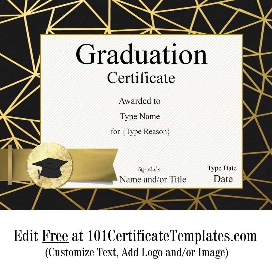 Free Graduation Certificate Template | Customize Online & Print - Free Printable Graduation Certificates Templates