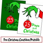 Free Grinch Hand Christmas Countdown Printable   Printables 4 Mom   Free Grinch Printables