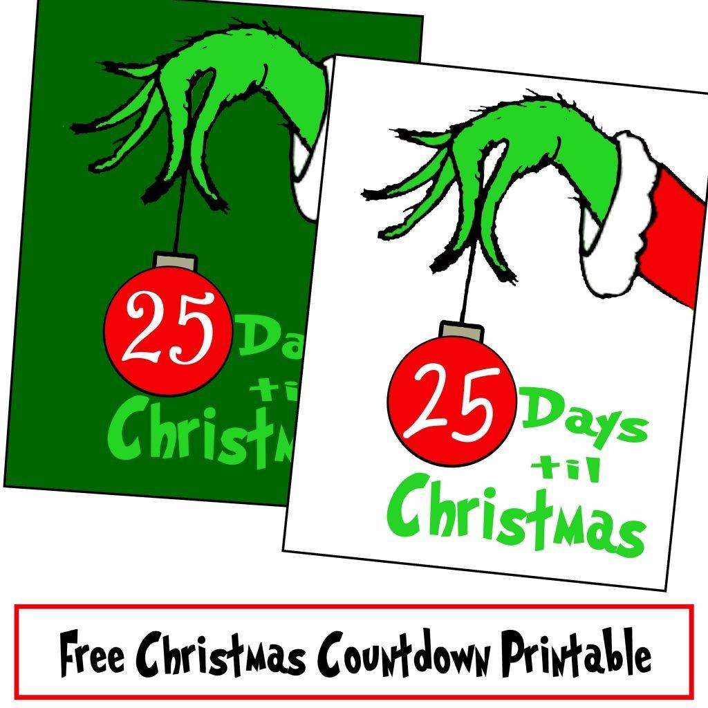 Free Grinch Hand Christmas Countdown Printable - Printables 4 Mom - Free Grinch Printables
