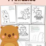 Free Groundhog Day Printables!   Mamas Learning Corner   Free Groundhog Printables Preschool