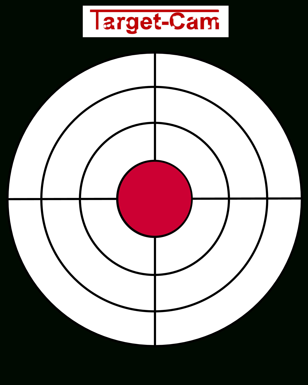 "Free Gun Targets To Print | New ""target-Cam"" Rifle And Hand Gun - Free Printable Pistol Targets"
