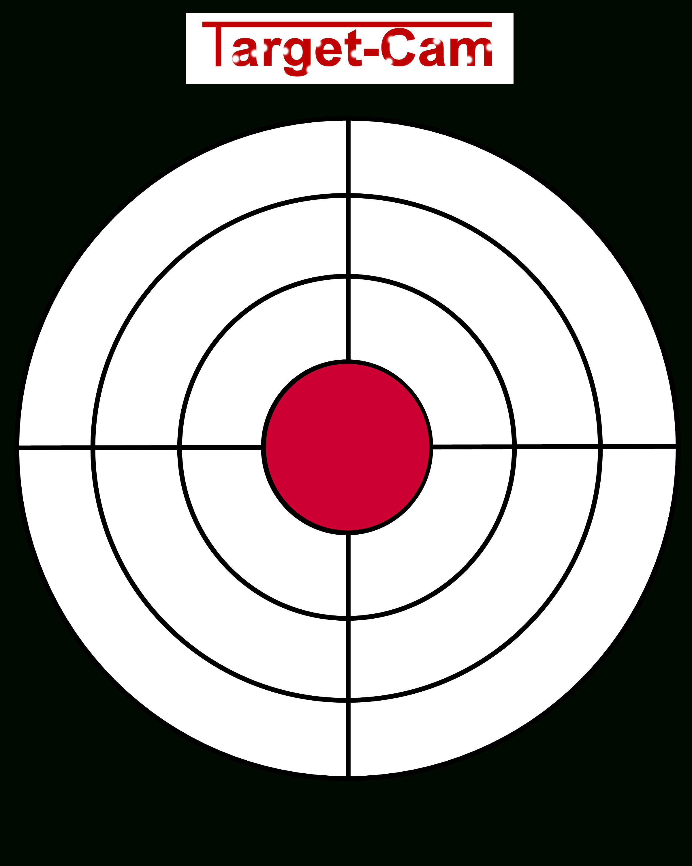 "Free Gun Targets To Print | New ""target-Cam"" Rifle And Hand Gun - Free Printable Shooting Targets"