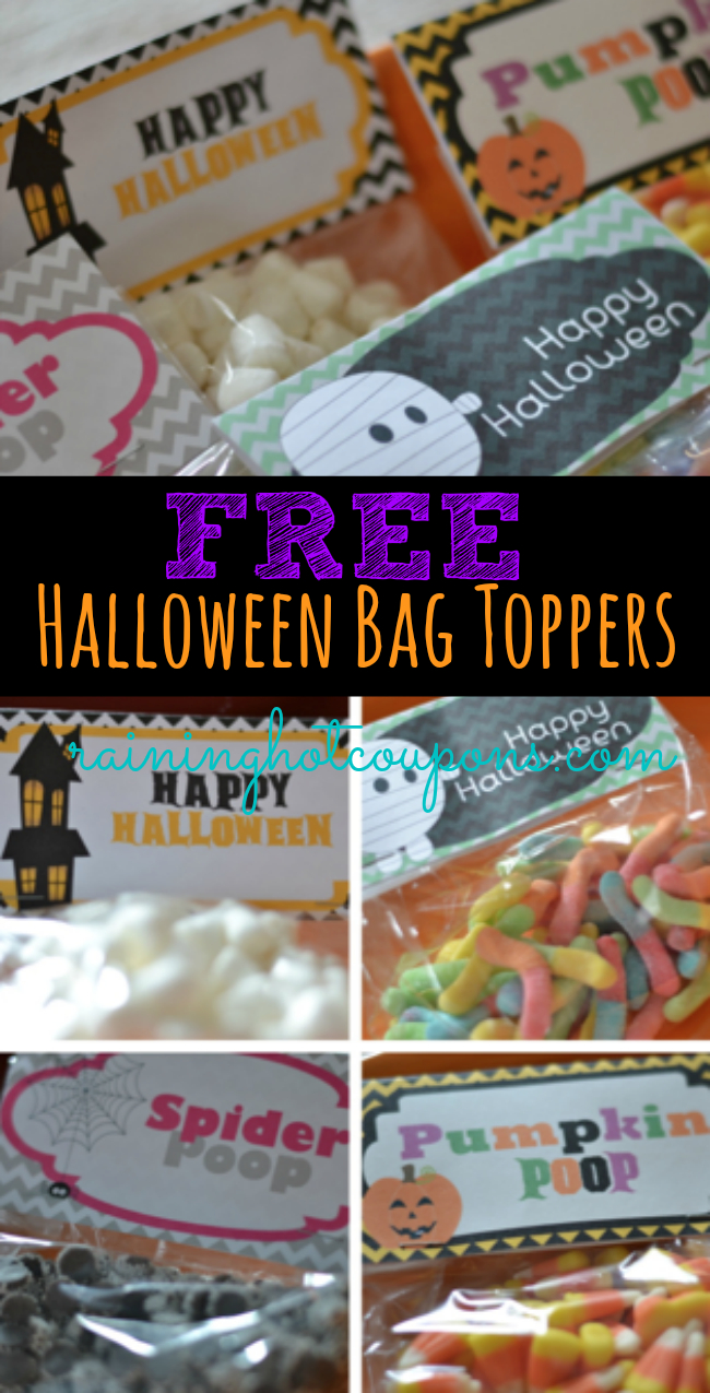 Free Halloween Bag Toppers From Raining Hot Coupons! (Pumpkin Poop - Free Printable Halloween Candy Coupons