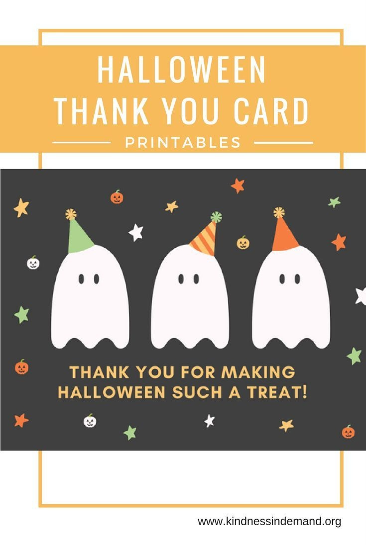 Free Halloween Thank You Card Printables | Halloween | Halloween - Printable Halloween Cards To Color For Free