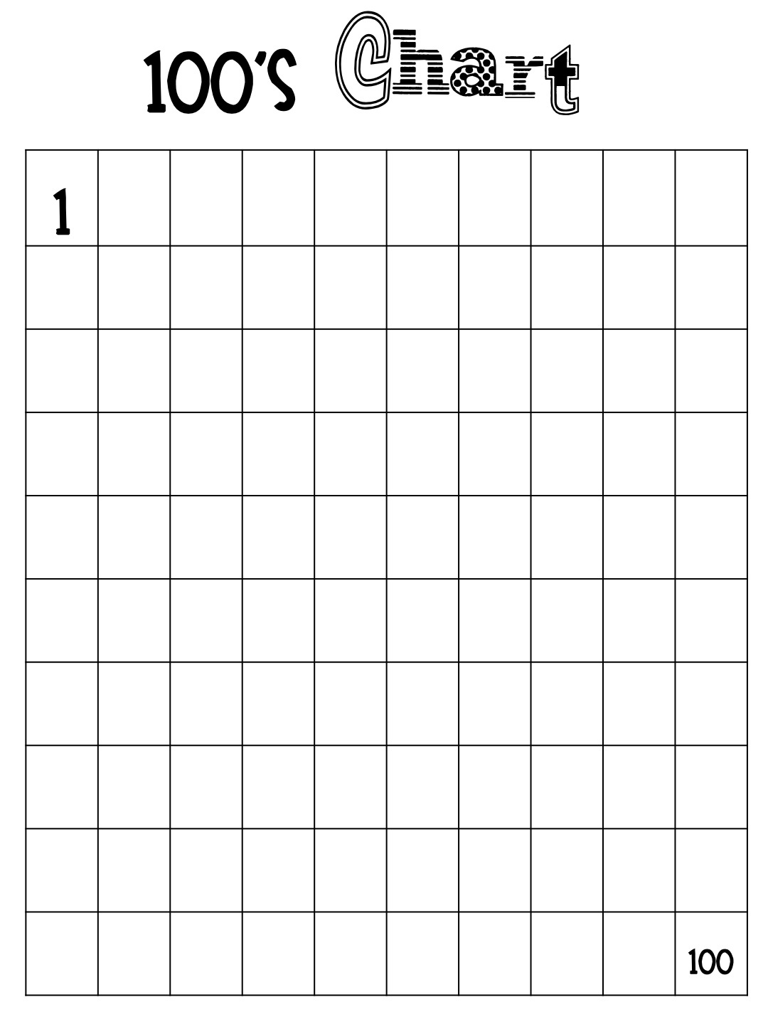 Free Hundreds Chart Cliparts, Download Free Clip Art, Free Clip Art - Free Printable Blank 1 120 Chart