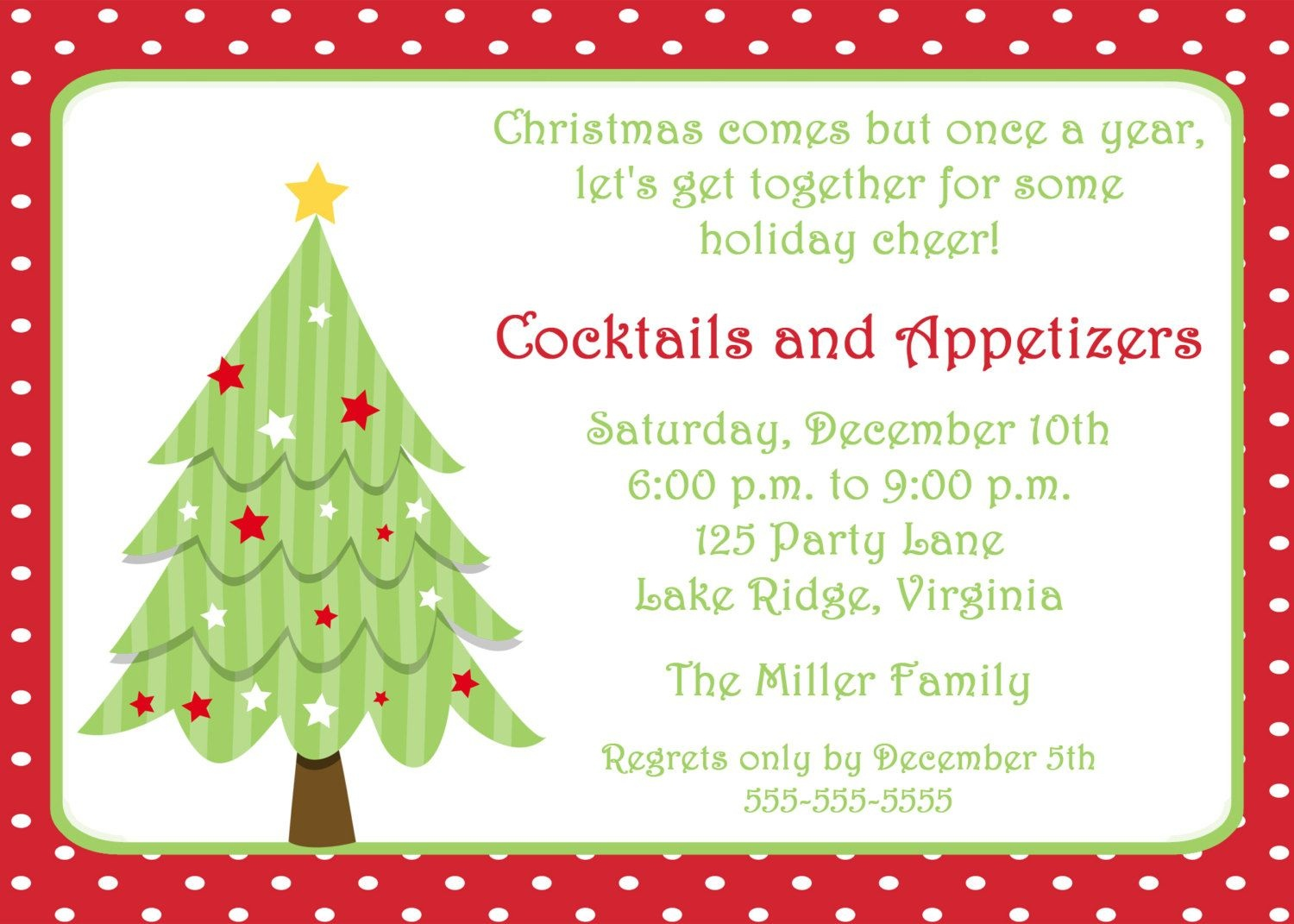 Free Invitations Templates Free | Free Christmas Invitation - Free Printable Personalized Christmas Invitations